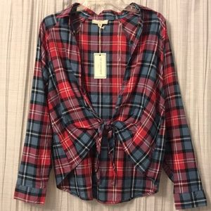 Tops - BRAND NEW** tie flannel